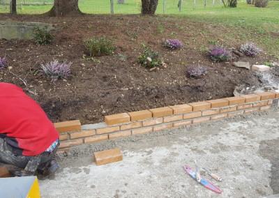 clôtures, pose de portails et maçonnerie jardin et construction de murette